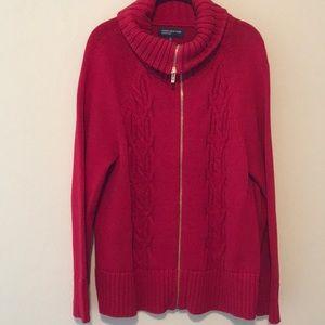 Jones New York zip front sweater